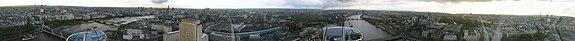 Panorama of London taken from the London Eye