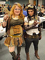 Long Beach Comic Expo 2011 - Lady Mechanika (right) and pal (5648077505).jpg