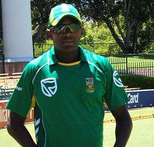 Lonwabe Tsotsobe at a training session at the ...