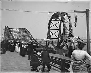 Loop the Loop (Youngs Million Dollar Pier) early-20th-century Atlantic City rollercoaster