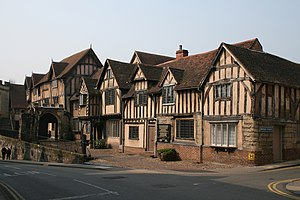 Warwick - Lord Leycester hospital by the west gate, Warwick