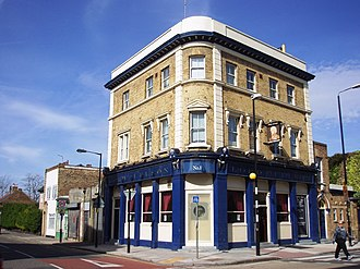 The Athletic Grounds - Millwall Rovers second ground from 1886–1890 was behind the Lord Nelson pub (pictured in 2008) on the Isle of Dogs.