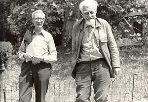 Konrad Lorenz - With Nikolaas Tinbergen (left), 1978