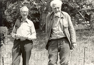 Nobel Prize in Physiology or Medicine - Nikolaas Tinbergen (left) and Konrad Lorenz (right) were awarded (with Karl von Frisch) for their discoveries concerning animal behavior.