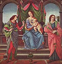 Lorenzo di Credi - Madonna with Child and Saints - Gemäldegalerie Alte Meister, Dresden.jpg