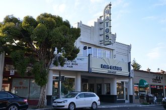 Los Gatos, California - Los Gatos Theater on Santa Cruz Ave