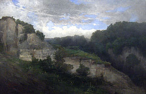 Société Libre des Beaux-Arts - The Heights of Beez (1861) by Louis Dubois; landscape painters were prominent among the Société Libre des Beaux-Arts