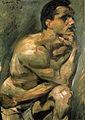 Lovis Corinth Männlicher Halbakt 1913.jpg