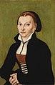 Lucas Cranach d.Ä. - Bildnis der Katharina von Bora (Christie's 2001).jpg