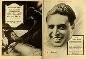 George Walsh - A Fox Luck and Pluck (1919) advert
