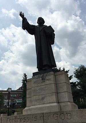 Hans Schuler - Statue of Martin Luther by Hans Schuler at Lake Montebello, Baltimore, Md.