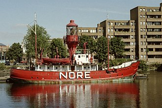 Lightvessels in the United Kingdom - Lightship LV86, on station at the Nore from 1931 to 1974