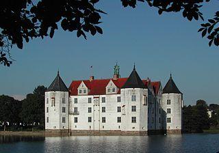 Glücksburg Place in Schleswig-Holstein, Germany
