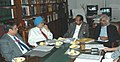 M. Veerappa Moily, the Deputy Chairman, Planning Commission, Shri Montek Singh Ahluwalia, the Advisor to Prime Minister, Shri Sam Pitroda and the Solicitor General.jpg