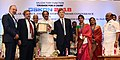 """M. Venkaiah Naidu presenting a citation """"Tribute to a Legend"""" to Prof. Christopher Liu, Brighton, in the presence of Mr. Sauro Mezzetti, Italian Consulate, at the OSKON 2018 (Ocular Surface and Keratoprosthesis Conference).JPG"""