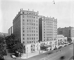 Mayflower Hotel - The Mayflower Hotel after completion