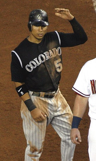 Carlos González (baseball) - González with the Colorado Rockies