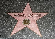 Jackson's star on the Hollywood walk of fame, set in 1984.