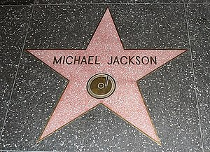 The star of Michael Jackson on the Walk of Fam...