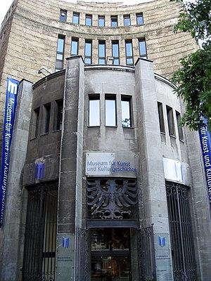 Museum für Kunst und Kulturgeschichte - The Museum für Kunst und Kulturgeschichte: entrance.