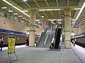 MRT Banqiao Station platform stair and escalator 20080630.jpg
