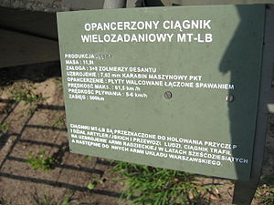 MT-LB armored personnel carrier at the Muzeum Polskiej Techniki Wojskowej in Warsaw (4).jpg