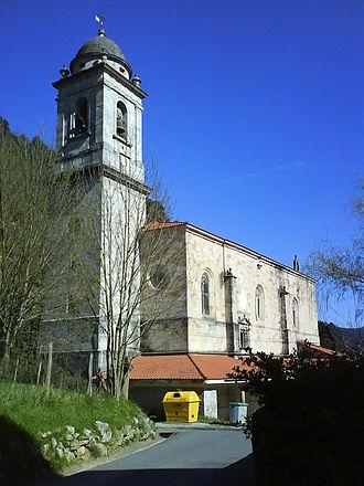 Mañaria - The church of Mañaria, Santa María.