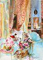 Ma-chambre-l'été-Michel-charrier-aquarelle-intérieur-de-maison-french-interior-2012-.jpg