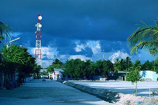 Inhabited island in Maldives