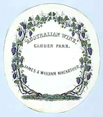 Camden Park Estate - Wine label of James and William Macarthur — used for wine produced at Camden Park Estate.