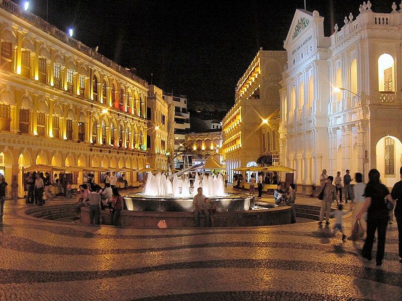 File:Macau Senate Square at Night.jpg