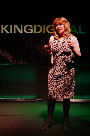 Maggie Philbin - Philbin speaking at the Thinking Digital conference in 2013 at the Sage Gateshead