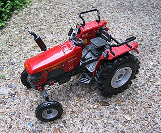 Tractor - A scale model of a modern Mahindra tractor in Punjab, India.