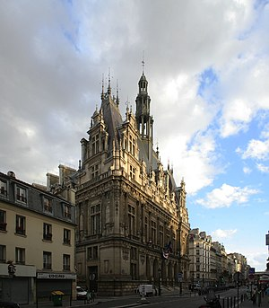 10th arrondissement of Paris - The town hall of the 10th arrondissement (rue du Faubourg Saint-Martin).