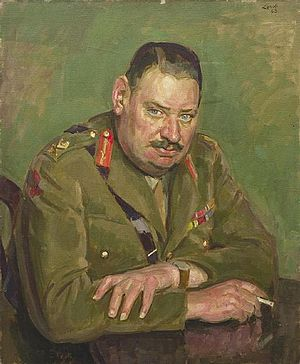 26th (London) Anti-Aircraft Brigade - Brigadier (later Maj-Gen) Robert Whittaker, OBE, TD, commander of 26th (London) AA Brigade, 1939–40.