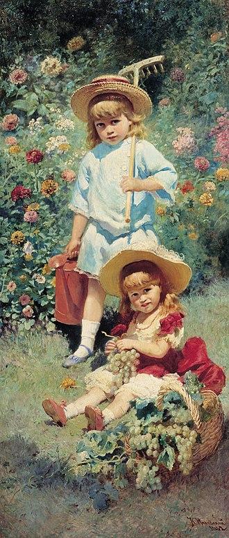 Konstantin Makovsky - Children of the Artist, 1882