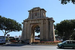 Hompesch Gate Commemorative arch in Żabbar, Malta
