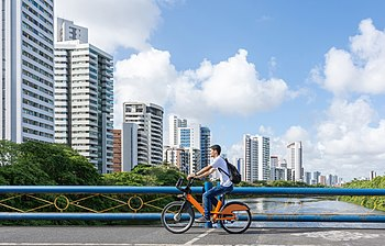 Man biking on Recife city.jpg