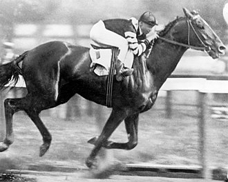 Man o' War - Man o' War winning the 1920 Belmont Stakes