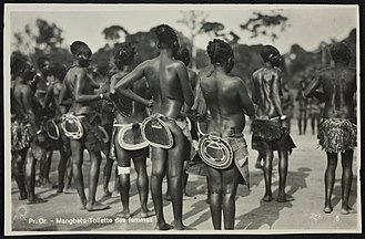 Mangbetu people - Mangbetu dancers, photo by Kazimierz Zagórski