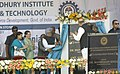 Manmohan Singh unveiling the plaque to lay the Foundation Stone of Ghani Khan Choudhury Institute of Engineering & Technology (GKCIET), in Malda, West Bengal. The Chairperson, National Advisory Council.jpg