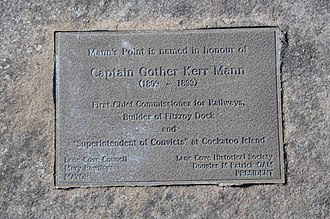 Greenwich, New South Wales - Plaque in honour of Captain Gother Kerr Mann