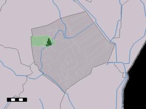 Borger, Netherlands - Image: Map NL Borger Odoorn Borger