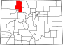 Map of Colorado highlighting Routt County.svg