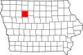 Map of Iowa highlighting Pocahontas County.svg