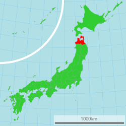 Map of Japan with highlight on 02 Aomori prefecture.svg