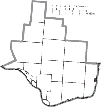 Athalia, Ohio - Image: Map of Lawrence County Ohio Highlighting Athalia Village