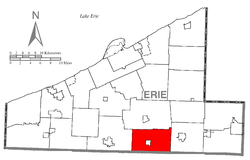 Location of LeBoeuf Township in Erie County