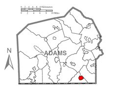 Map of Littlestown, Adams County, Pennsylvania Highlighted.png