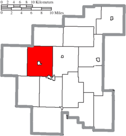 Location of Noble Township in Noble County